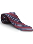 Red, Navy & White Stripe Best of Class Tie | Best of Class Collection | Sam's Tailoring Fine Men's Clothing
