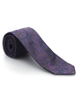 Violet, Brown & Green Paisley Best of Class Tie | Best of Class Collection | Sam's Tailoring Fine Men's Clothing