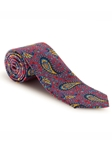 Red, Blue, Yellow & Sky Paisley Best of Class XL Tie | Robert Talbott XL Spring Collection | Sam's Tailoring Fine Men Clothing