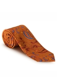 Orange, Red & Yellow Paisley Best of Class XL Tie | Robert Talbott XL Spring Collection | Sam's Tailoring Fine Men Clothing