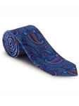 Blue, Pink, Orange & Sky Paisley Best of Class XL Tie | Robert Talbott XL Spring Collection | Sam's Tailoring Fine Men Clothing