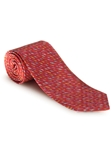 Red With Multi Colored Whale Best of Class XL Tie | Robert Talbott XL Spring Collection | Sam's Tailoring Fine Men Clothing