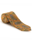 Orange, Lavender & Black Paisley Best of Class XL Tie | Robert Talbott XL Spring Collection | Sam's Tailoring Fine Men Clothing