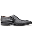 Black Genuine Ostrich & Italian Calf Savana Shoe | Belvedere Shoes Spring Collection | Sams Tailoring Fine Men Clothing