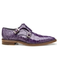 Lavender Genuine Alligator Monk Strap Oscar Shoe | Belvedere Shoes Spring Collection | Sams Tailoring Fine Men Clothing