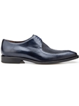 Navy Genuine Stingray & Italian Calf Mario Shoe | Belvedere Shoes Spring Collection | Sams Tailoring Fine Men Clothing