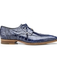 Sky Blue Genuine Alligator Lorenzo Dress Shoe | Belvedere Shoes Spring Collection | Sams Tailoring Fine Men Clothing