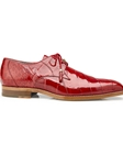 Red Genuine Alligator Lago Dress Shoe | Belvedere Shoes Spring Collection | Sams Tailoring Fine Men Clothing