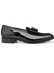 Black Patent Leather & Velvet Cruz Shoe | Belvedere Shoes Spring Collection | Sams Tailoring Fine Men Clothing