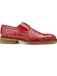 Flame Red Genuine Hornback Crocodile Coppola Shoe | Belvedere Shoes Spring Collection | Sams Tailoring Fine Men Clothing