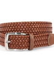 Caramel Italian Woven Stretch Leather Belt | Torino leather New Belts | Sam's Tailoring Fine Men Clothing