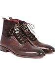 Brown Suede & Calfskin Wingtop Men's Boot | Fine Men Spring Boots | Sam's Tailoring Fine Men Clothing
