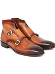Brown Double Monkstrap Men's Boot | Fine Men Spring Boots | Sam's Tailoring Fine Men Clothing