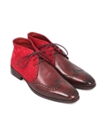 Bordeaux Suede & Leather Men's Chukka Boot | Fine Men Spring Boots | Sam's Tailoring Fine Men Clothing