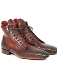 Genuine Crocodile & Calfskin Handmade Zipper Boot | Fine Men Spring Boots | Sam's Tailoring Fine Men Clothing