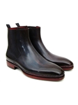 Navy & Bordeaux Chelsea Men's Boot | Fine Men Spring Boots | Sam's Tailoring Fine Men Clothing