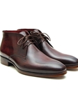 Brown & Bordeaux Chukka Men's Boot | Fine Men Spring Boots | Sam's Tailoring Fine Men Clothing