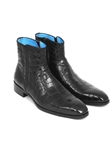 Black Crocodile SIde Zipper Men's Boot | Fine Men Spring Boots | Sam's Tailoring Fine Men Clothing