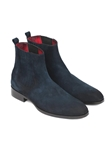 Navy Suede Chelsea Fine Men's Boot | Fine Men Spring Boots | Sam's Tailoring Fine Men Clothing
