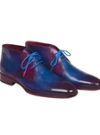 Blue and Purple Chukka Men's Boot | Fine Men Spring Boots | Sam's Tailoring Fine Men Clothing