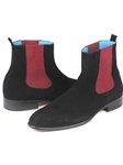 Black Suede Chelsea Fine Men's Boot | Fine Men Spring Boots | Sam's Tailoring Fine Men Clothing
