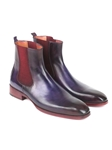 Purple & Navy Chelsea Fine Men's Boot | Fine Men Spring Boots | Sam's Tailoring Fine Men Clothing