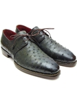 Goodyear Welted Green Genuine Ostrich Derby Shoe| Fine Men Derby Shoes | Sam's Tailoring Fine Men Clothing