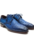 Ocean Genuine Ostrich Derby Men Shoes| Fine Men Derby Shoes | Sam's Tailoring Fine Men Clothing