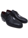 Black Genuine Stingrey Goodyear Welted Derby Shoe| Fine Men Derby Shoes | Sam's Tailoring Fine Men Clothing