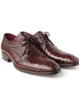 Brown Genuine Crocodile Derby Men's Shoe| Fine Men Derby Shoes | Sam's Tailoring Fine Men Clothing