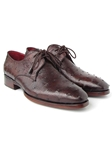 Brown Genuine Ostrich Derby Men's Shoe| Fine Men Derby Shoes | Sam's Tailoring Fine Men Clothing