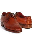 Tobacco Genuine Ostrich Leather Upper Derby Shoe| Fine Men Derby Shoes | Sam's Tailoring Fine Men Clothing