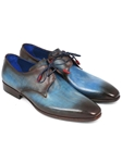 Blue & Brown Hand Painted Derby Shoe| Fine Men Derby Shoes | Sam's Tailoring Fine Men Clothing