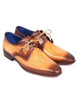 Brown & Camel Hand Painted Derby Shoe| Fine Men Derby Shoes | Sam's Tailoring Fine Men Clothing
