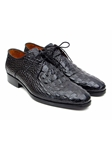 Black Crocodile Embossed Calfskin Derby Shoe| Fine Men Derby Shoes | Sam's Tailoring Fine Men Clothing