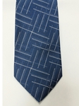 Blue, White and Black Design Silk Tie | Jane Barnes Silk Ties | Sam's Tailoring Fine Men's Clothing