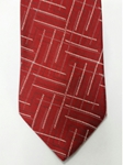 Red, White and Black Pattern Silk Tie | Jane Barnes Silk Ties | Sam's Tailoring Fine Men's Clothing