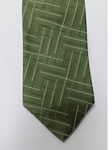 Green, Black and White Pattern Silk Tie | Jane Barnes Silk Ties | Sam's Tailoring Fine Men's Clothing