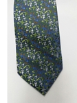 Blue With Multi Color Floral Design Silk Tie | Jane Barnes Silk Ties | Sam's Tailoring Fine Men's Clothing