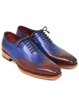 Blue & Brown Goodyear Welted Wingtip Oxford | Men's Oxford Shoes Collection | Sam's Tailoring Fine Men Clothing