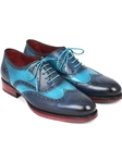 Blue & Turquoise Wingtip Men Oxford | Men's Oxford Shoes Collection | Sam's Tailoring Fine Men Clothing