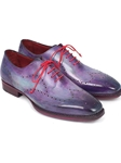 Purple Goodyear Welted Wingtip Oxford | Men's Oxford Shoes Collection | Sam's Tailoring Fine Men Clothing