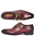 Burgundy Wholecut Plan Toe Men Oxford | Men's Oxford Shoes Collection | Sam's Tailoring Fine Men Clothing