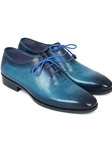 Blue & Navy Medallion Toe Men Oxford | Men's Oxford Shoes Collection | Sam's Tailoring Fine Men Clothing