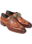 Camel Brown Goodyear Welted Wingtip Oxford | Men's Oxford Shoes Collection | Sam's Tailoring Fine Men Clothing