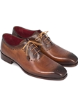 Camel & Brown Medallion Toe Men Oxford | Men's Oxford Shoes Collection | Sam's Tailoring Fine Men Clothing