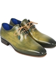 Green Handpainted Plain Toe Wholecut Oxford | Men's Oxford Shoes Collection | Sam's Tailoring Fine Men Clothing