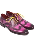 Lilac Handpainted Calfsking Wingtip Oxford | Men's Oxford Shoes Collection | Sam's Tailoring Fine Men Clothing