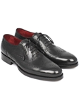 Black Goodyear Welted Wingtip Men Oxford | Men's Oxford Shoes Collection | Sam's Tailoring Fine Men Clothing