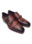 Brown Leather Upper & Sole Monkstraps Shoe | Handmade Monk Straps Shoes | Sam's Tailoring Fine Men Clothing